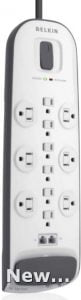 Belkin 12 AC Multiple Outlets 8 ft Long Power Strip Surge Protector Extension