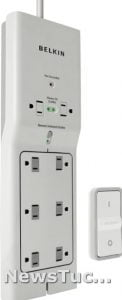 Belkin 4ft Cord 8-Outlet Conserve Switch Surge ProtectorExtension