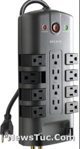 Belkin 8 Rotating 4 Stationary AC 8 ft Long Heavy Duty Extension Surge Power Strip Protector