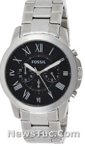 Grant Stainless Steel Fossil Men's Watch