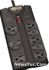 TrippLite 8 Outlet 8ft Cord Surge Protector Power Strip Extension