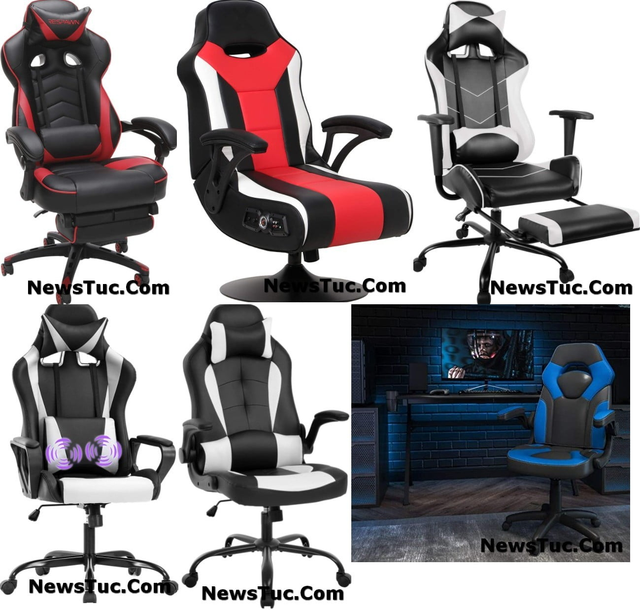 Top Gaming PC Adjustable Rolling Chair