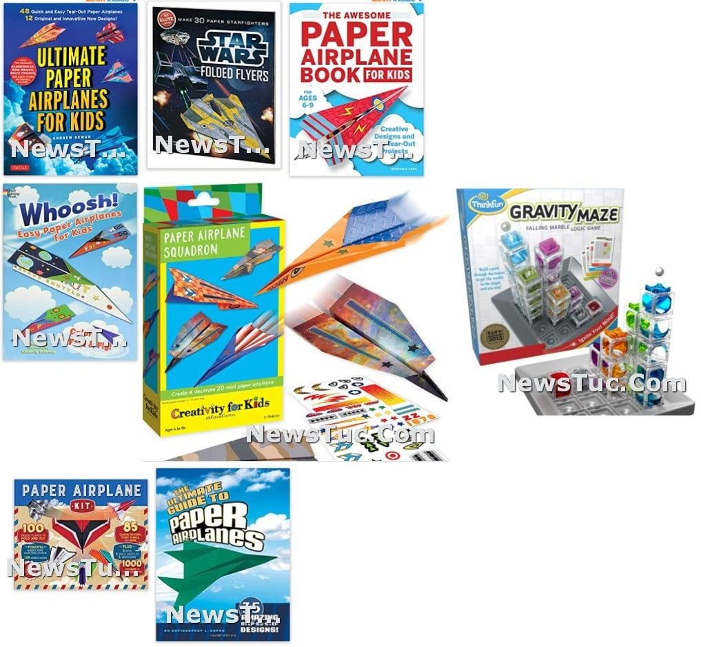 Top Designs Kids fly Paperback Airplanes Fun Toy