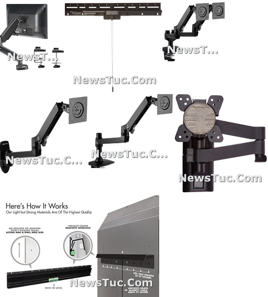Top Adjustable Arm Wall Mount TV Computer Monitor Stand